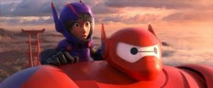 """Hiro, the hero of the film, and his health companion Baymax, in """"armor-up"""" mode."""