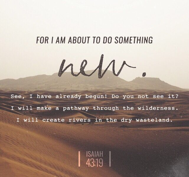 New Beginnings Bible Quote